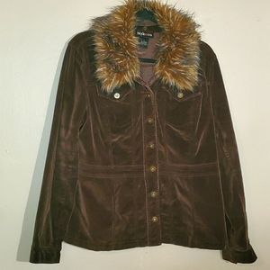 Style & Co - Corduroy w/Removable Collar - Size L